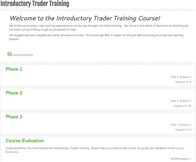 traders training - intro