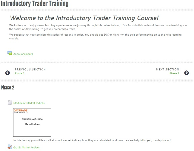 traders training - phase 2
