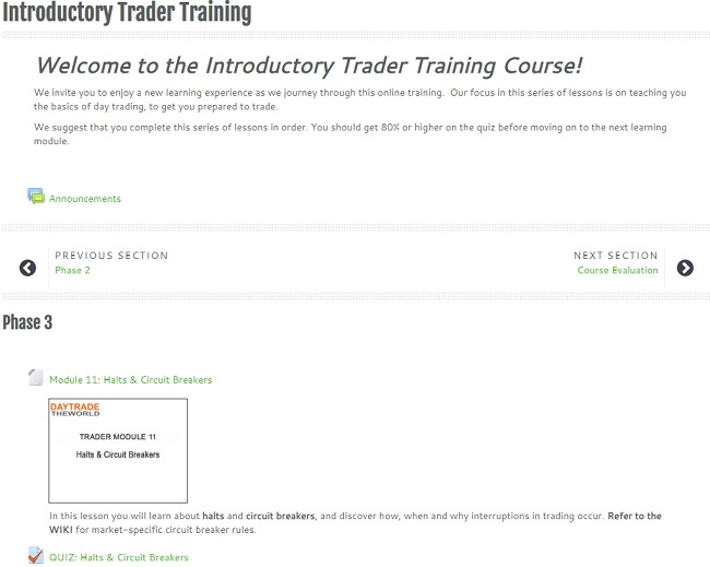 traders training - phase 3